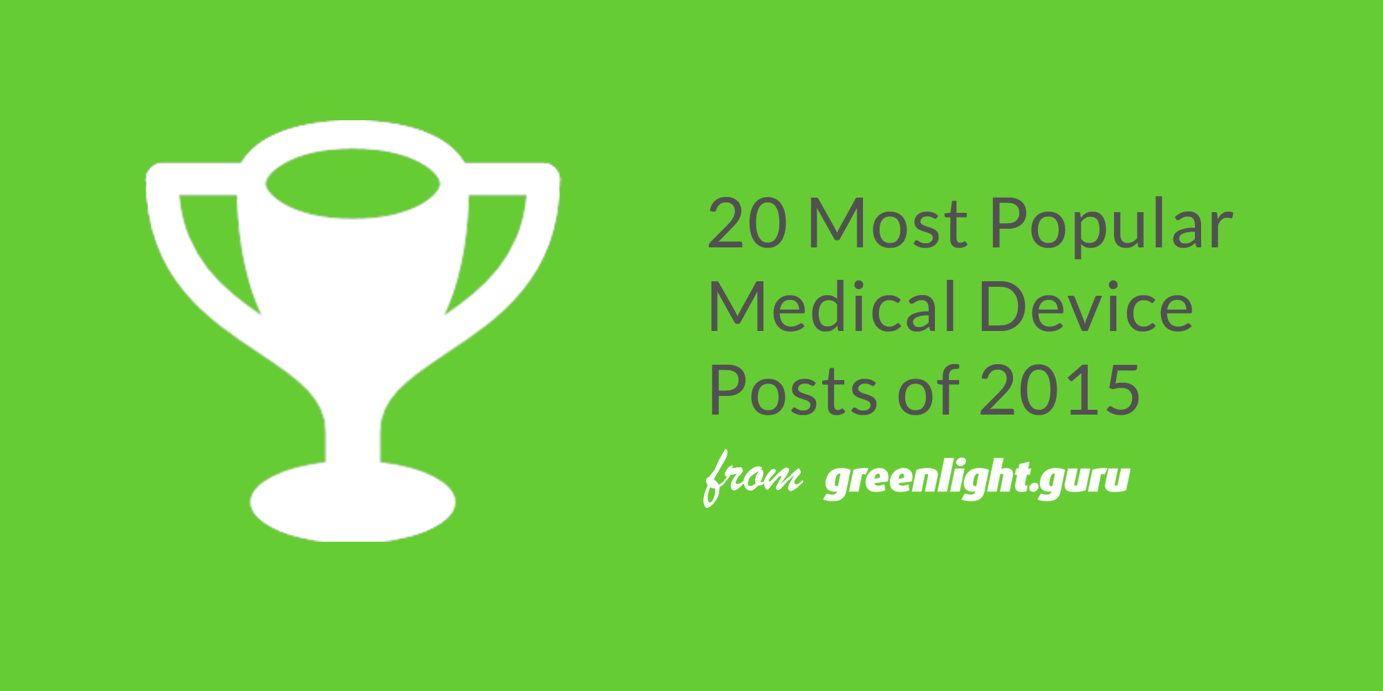 20 Most Popular Medical Device Posts of 2015 from greenlight.guru - Featured Image