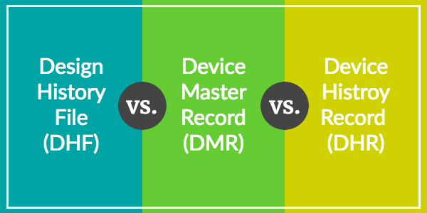 Design History File (DHF) vs. Device Master Record (DMR) vs. Device History Record (DHR): Understanding the Differences and What Documents to Include - Featured Image