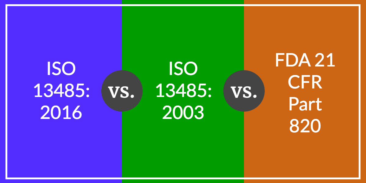 ISO 13485:2016 vs. ISO 13485:2003 vs. FDA 21 CFR Part 820: Comparing the Differences and Changes - Featured Image